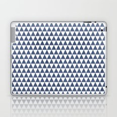 triangles - blue and white Laptop & iPad Skin