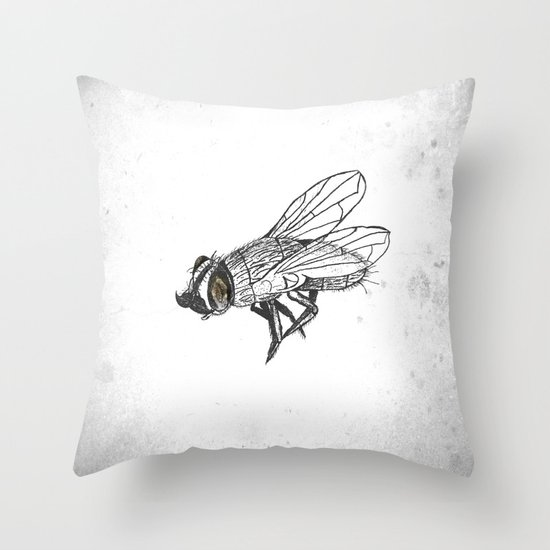 French Fly Throw Pillow