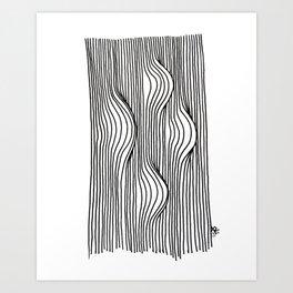 Bumps Art Print