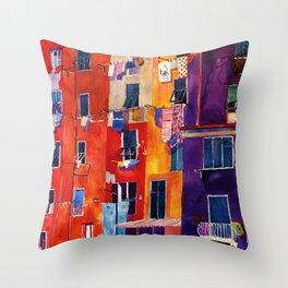 Portovenere Throw Pillow