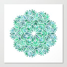 Mandala Southwest Succulent Canvas Print