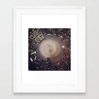 manhattan Framed Art Prints featuring Manhattan by Michelle Wenz
