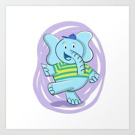 Dancing Elephant Art Print