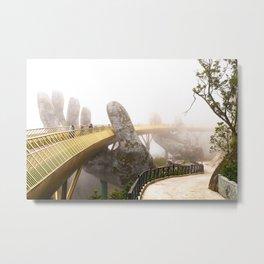 Hands of God Golden Bridge, Vietnam Metal Print