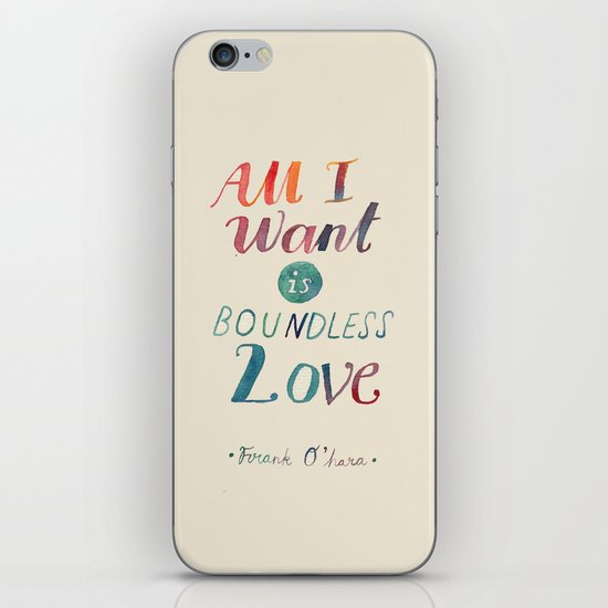 All I Want Is Boundless Love iPhone & iPod Skin