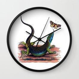 Lizard & Butterfly Wall Clock