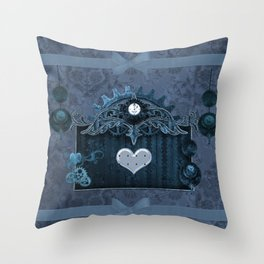 A touch of steampunk with elegant heart Throw Pillow