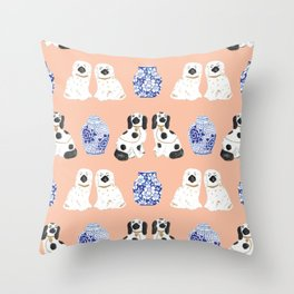 Staffordshire Dogs + Ginger Jars No. 5 Throw Pillow