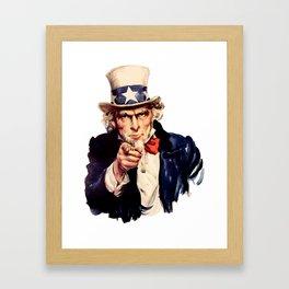 Uncle Sam Pointing Finger Framed Art Print
