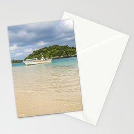 Boat on Kabira Bay Stationery Cards