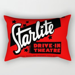 Starlite Drive In Red Rectangular Pillow