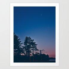 Tiny Crescent Moon Art Print