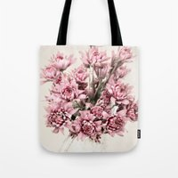 blush Tote Bags featuring Blush by  Robin-Lee