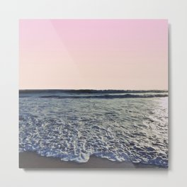 When The Waves Kiss The Shore Metal Print