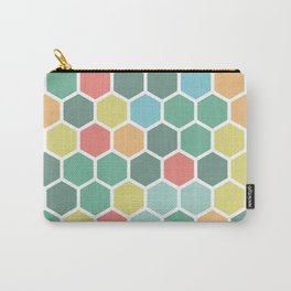 Texture hexagons - Spring's colors Carry-All Pouch