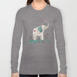 I Love Elephants Long Sleeve T-shirt