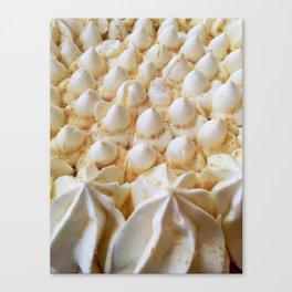 whipped cream mountain range Canvas Print