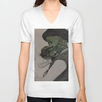 bond V-neck T-shirts featuring Bond by Julio Paniagua