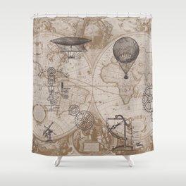 Gears of Flight Shower Curtain