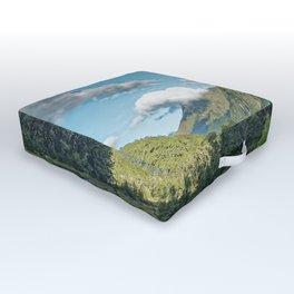 Monkey Creek, New Zealand Landscape Outdoor Floor Cushion