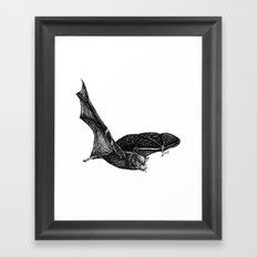 Bat tongue Framed Art Print