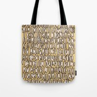 teeth Tote Bags featuring Teeth by Jason Covert