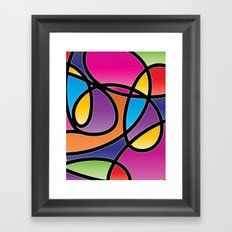 Loops Color 2 Framed Art Print