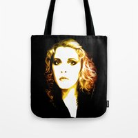 stevie nicks Tote Bags featuring Stevie Nicks - Dreams - Pop Art by William Cuccio aka WCSmack