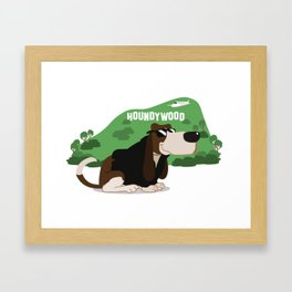 Hollywood Basset Hound Framed Art Print
