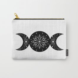 Triple Moon Goddess Moon Flowers Carry-All Pouch