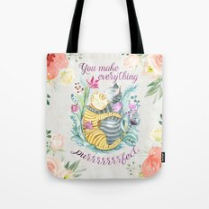 You Make Everything Purrrrfect Tote Bag