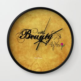 His Beauty Wall Clock