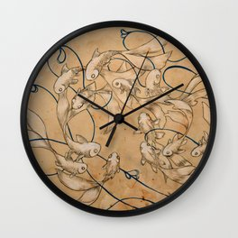 Twirl and Loop Wall Clock