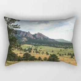 Boulder Flatirons Rectangular Pillow