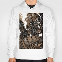 cityscape Hoodies featuring Cityscape by David Miley