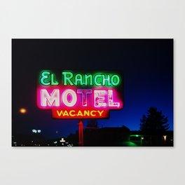 El Rancho Motel ... Canvas Print