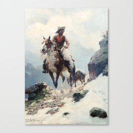 "William Leigh Western Art ""The Bear Tracker"" Canvas Print"