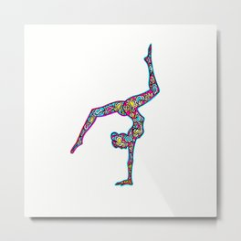 pink yogi Metal Print