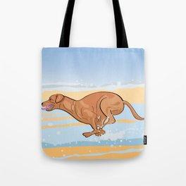 Beach Vizsla Tote Bag