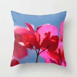 Bougainvillea II Throw Pillow