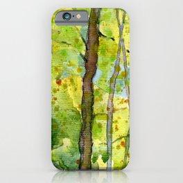 Woodland Walk Watercolour iPhone Case