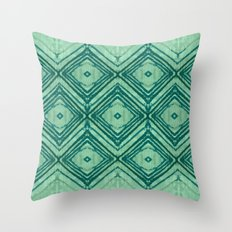 watercolor diamond seafoam green Throw Pillow