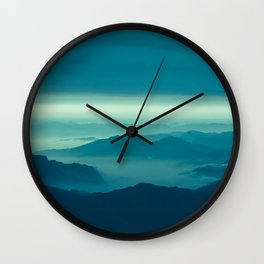 Cloud and mountain landscape Wall Clock
