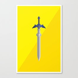 Master Sword (Legend of Zelda) Postcard Canvas Print