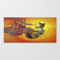 the legend of korra Canvas Prints featuring Korra by Vivian Ng