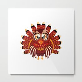 Cute Turkey Bird Metal Print