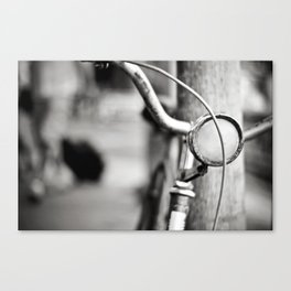 Bicycle B/W Canvas Print