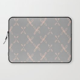 Pink & Gray Abstract Astral Pattern Laptop Sleeve