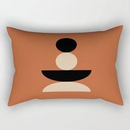 Zen Balanced - Black & Tan Rectangular Pillow
