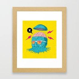 Head Melt Framed Art Print